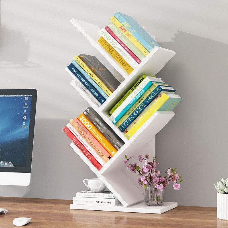 Bookshelf Simplicity Table Storage Shelf Minimalist Modern For Student Dormitory Bookcase Storage Office Book Desktop Small Book