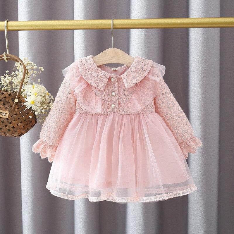 Primavera 1st vestido de aniversário para o bebê meninas roupas vestido de renda um ano de aniversário princesa festa tutu vestidos de bebês traje vestido