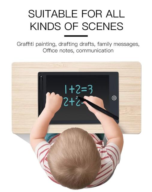 Mesa de dibujo TISHRIC LCD de 12 pulgadas para niños, tablero de escritura con pantalla a Color, tableta Digital gráfica para dibujos, cojines para niños, regalos, Juguetes