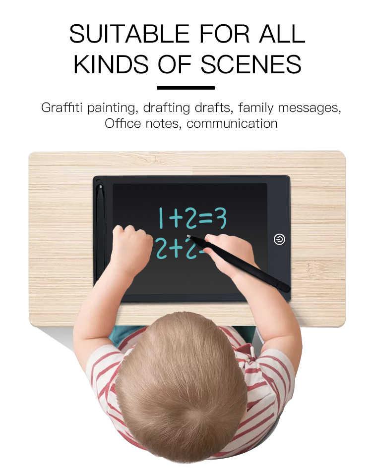 """TISHRIC 12 """"Pollici di Scrittura LCD Da Tavolo per il Disegno Pad/Bordo Schermo a Colori Bambini di Disegno Tablet Tavoletta Grafica Digitale per I Bambini il Regalo"""