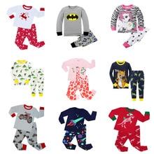 Детские хлопковые Пижамные комплекты с длинными рукавами для маленьких девочек pijama infantil, 2 предмета, Высококачественная Пижама с единорогом для мальчиков, детские пижамы