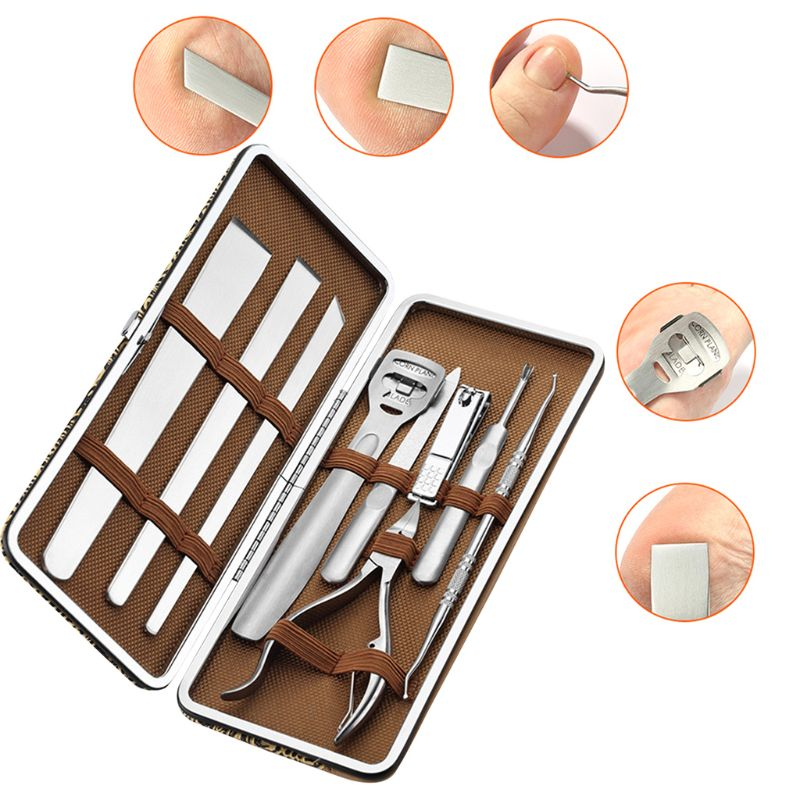 Pedicure Set Stainless Steel Foot Care Tools Set Dead Skin Remover Feet Skin Cutter Cuticle Toe Nail Clipper Pedicure Knife