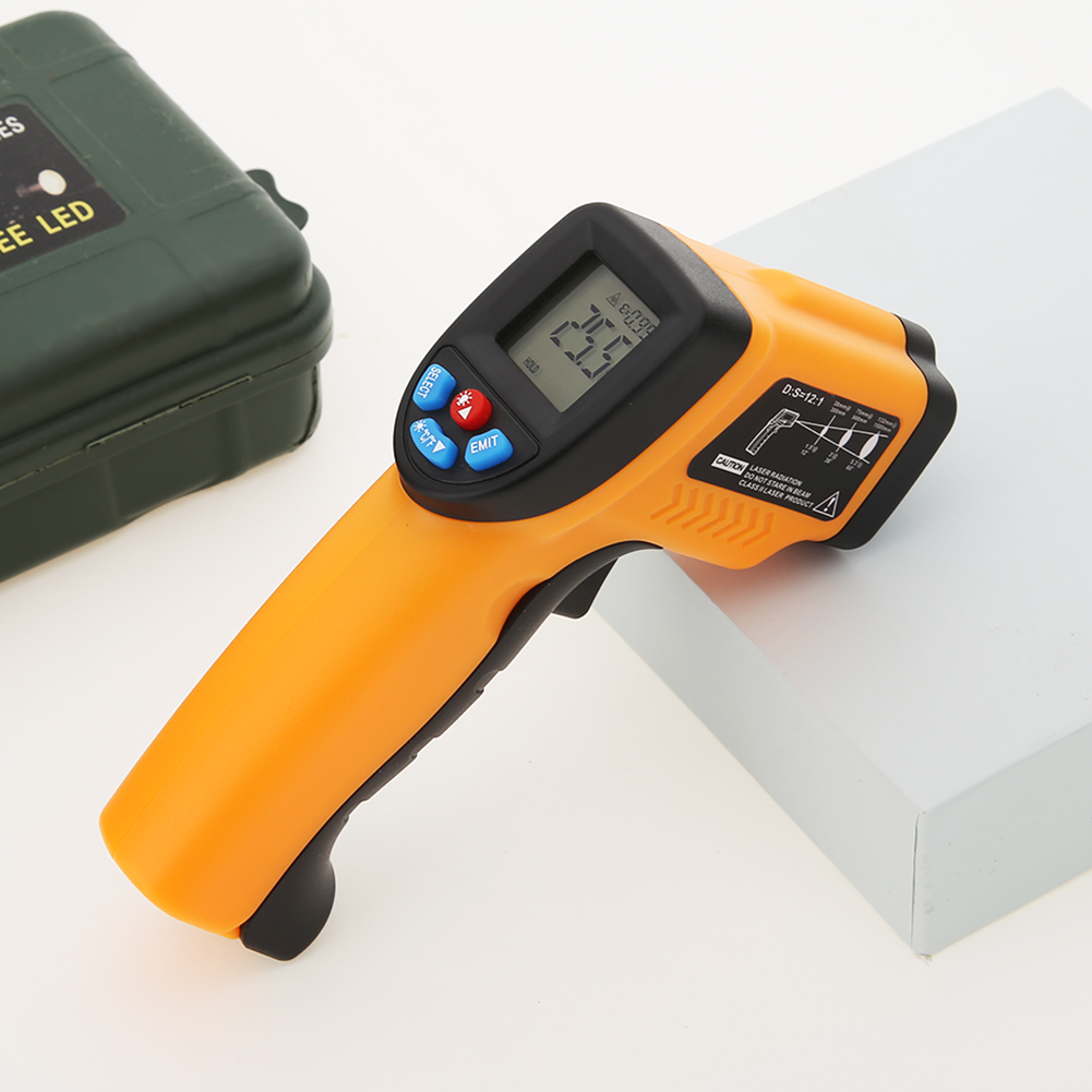 GM550 Digital Laser Infrared Thermometer Temperature Meter LCD Display Electronic Handheld Indicator Gun Sensor Pyrometer
