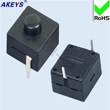 10 PCS YT-1212-112C two high quality copper foot flashlights switch Wenzhou one-key key self-locking
