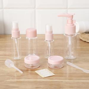 Image 5 - 1 zestaw przenośny Spray wielokrotnego napełniania butelki zestaw plastikowy krem do twarzy balsam pojemnik na kosmetyki Home Travel puste butelki do napełniania sprayem
