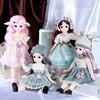 1/6 bjd人形30センチメートルガールギフトピンクのロングヘアメイクかわいい姫の人形のドレス服diy人形女の子ギフトおもちゃ