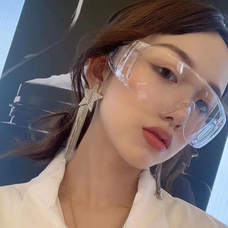 1Pcs Safety Goggles Eye Protection Anti Fog Clear Vent Protective Glasses Lab Work Dust Proof Splash Spit Droplets Goggles Tools