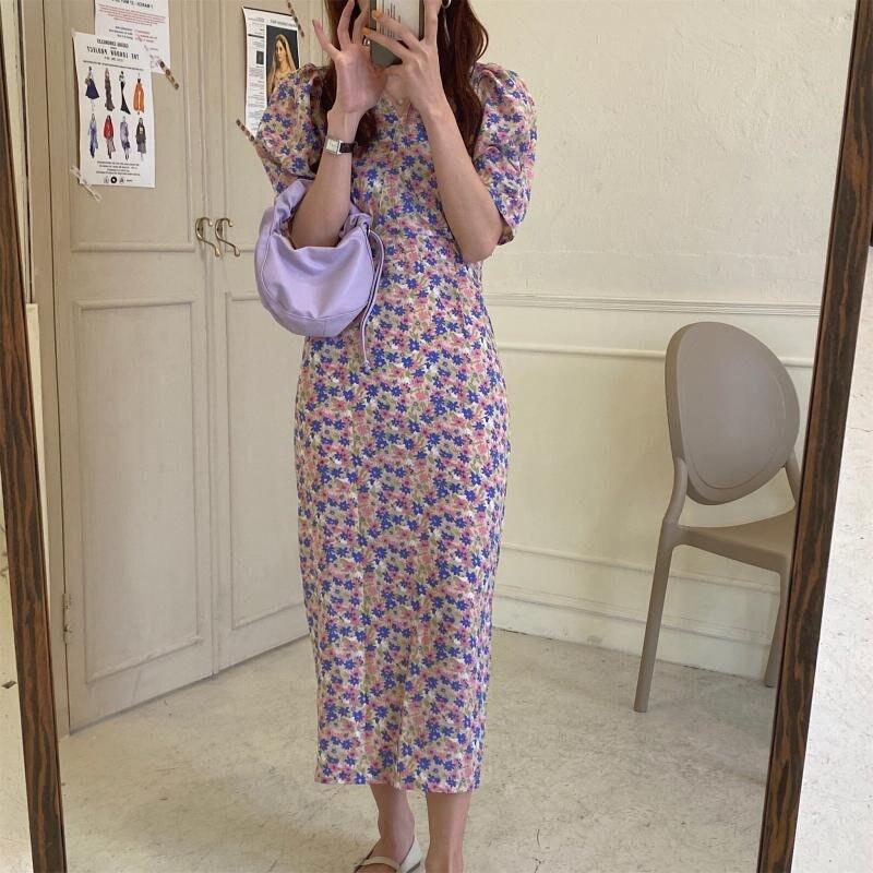 alienigena kitty vestido 2020 chique coreano nova cintura alta vestido fino com decote em v streetwear