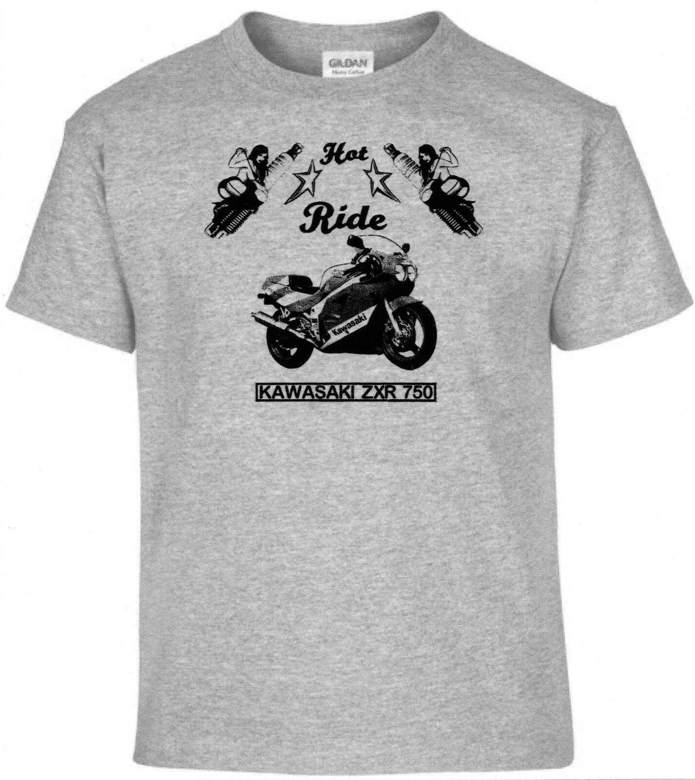 Bike kawasaki zxr 750 T-shirt motocicleta Oldtimer Youngtimer,