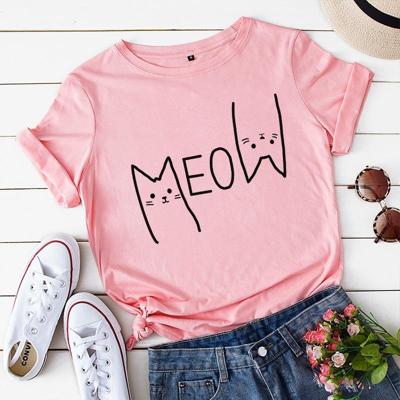 MEOW Plus Size Cat T-Shirt