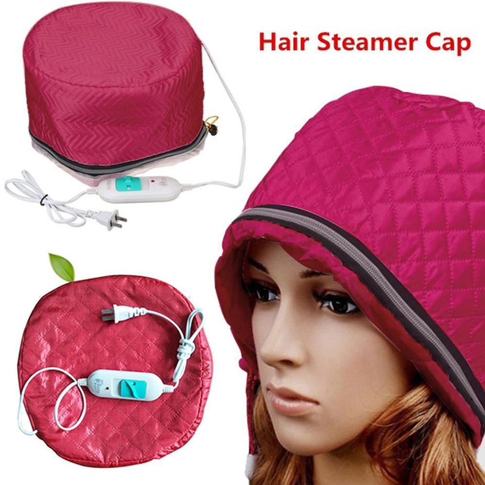 220V US Plug Electric Hair Thermal Treatment Beauty Steamer SPA Nourishing Hair Care Cap