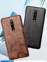 Bằng Gỗ Tự Nhiên Ốp Lưng Điện Thoại Xiaomi 9T Pro, Redmi K20 Pro Ốp Lưng Màu Đen Đá Gỗ, hạt Óc Chó, Gỗ Hồng Sắc