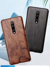 טבעי עץ טלפון מקרה עבור Xiaomi 9T פרו, Redmi K20 פרו מקרה כיסוי שחור קרח עץ, אגוז, סיסם