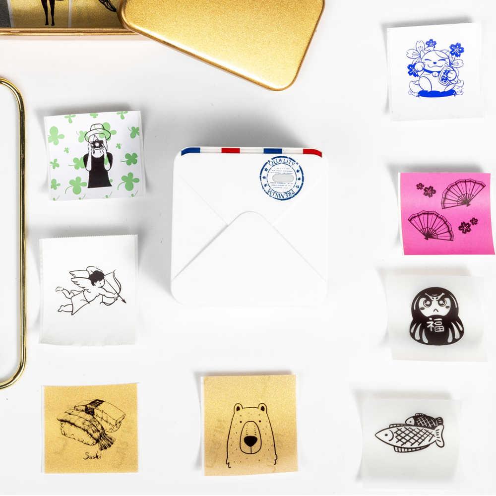 Portable Phomemo M02S Handheld Printer Foto 300Dpi HD Bluetooth Thermal Kecil Printer Mini Phomemo Saku Thermal Label Printer