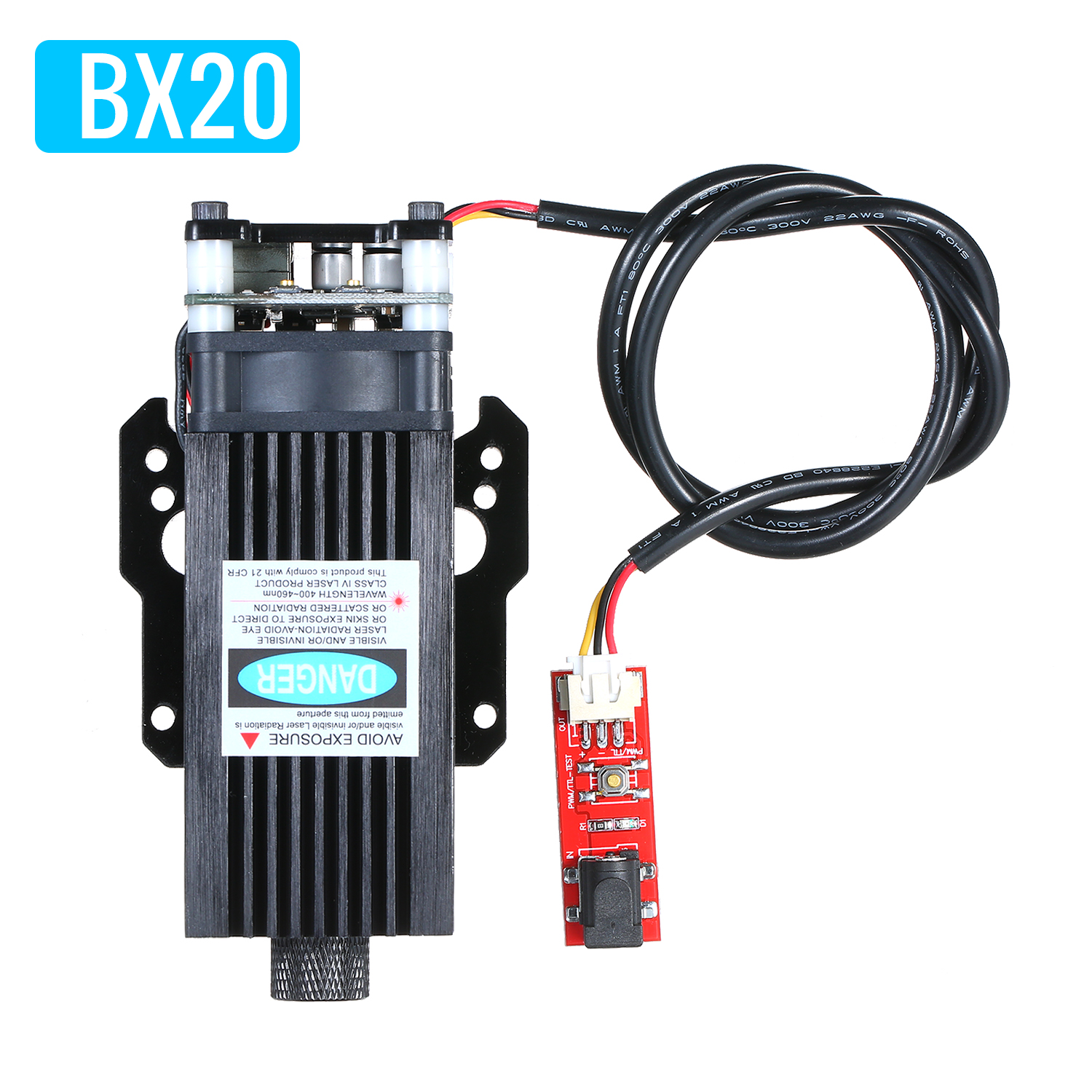 Portable 20W Laser Head Laser Module Woodworking Machinery Parts DIY Tools For VG-L7 Laser Engraving Machine