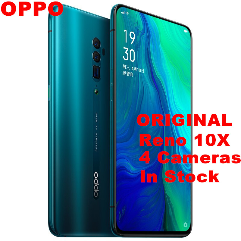 "Original OPPO Reno 10x zoom Mobile Phone 6.6"" Full Screen 2340X1080 Snapdragon 855 8G RAM 256G ROM 48.0MP Slide Camera NFC