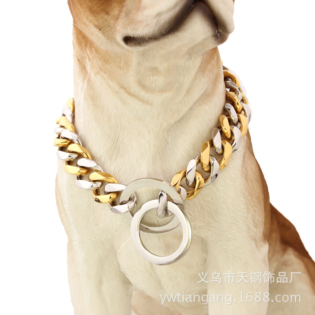 15 Size New Style Golden Retriever Husky Pet Dog Titanium Steel Stainless Steel Between Gold Double Color P Pendant Polishing To