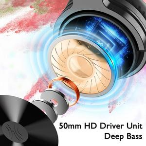 Image 2 - Oneodio auriculares inalámbricos con micrófono extensible para videojuegos, plegables, portátiles, Bluetooth V5.0