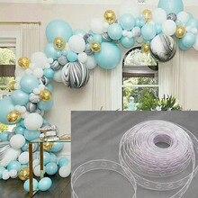 Новогодняя 5 м/рулон полоска для воздушных шаров лента арочные звенья Рождество Свадьба День Рождения Вечеринка украшения дома аксессуары