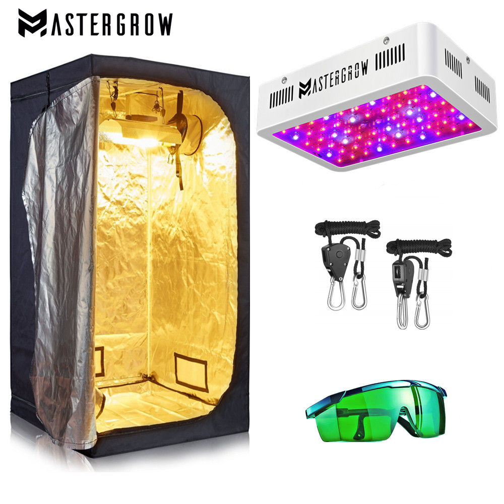 VEG BLOOM LED Grow Light+Multiple Size Grow Tent Combo Hydroponic Growing System Grow Tent Room Complete Kit For Indoor Plants