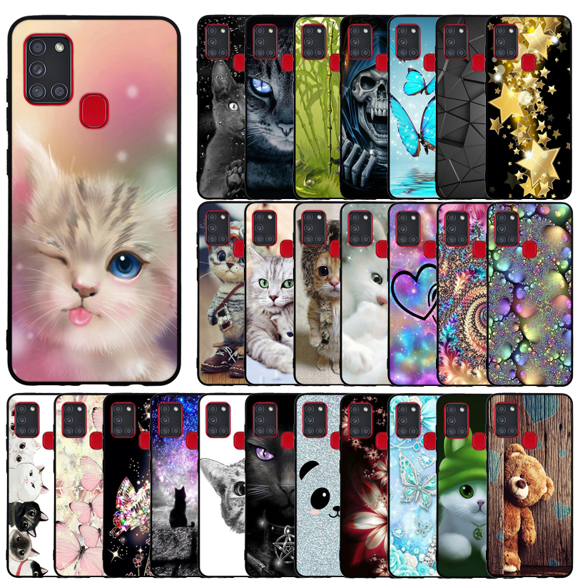 Case For Samsung A21S A 21S Case Silicone Back Cover For Samsung Galaxy A21S Galaxya21s A217F A217 SM-A217F Print Painted Coque