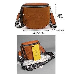 Image 2 - Сумка кросс боди для женщин, сумки мессенджеры из искусственной кожи, сумка на плечо, модное седло знаменитого бренда для леди, 2020
