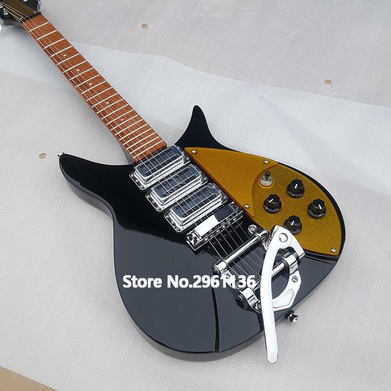 Guitare électrique de haute qualité, guitare électrique Ricken 325, Backer 34 pouces, golden pick guard, livraison gratuite