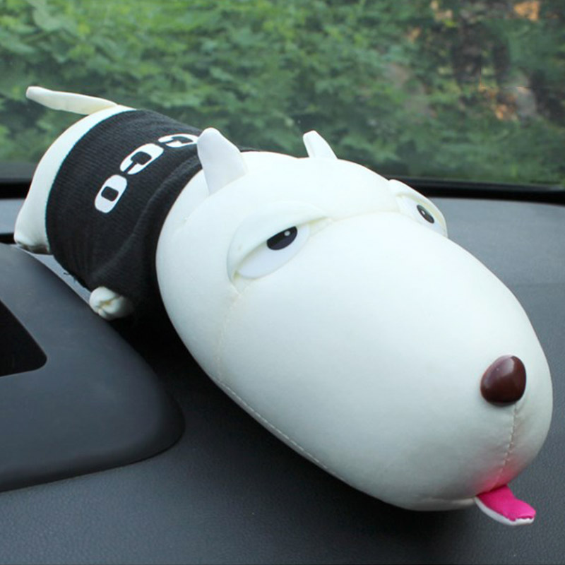 Cute Long-mouthed Dog Car Ornament Decoration Dashboard Doll Car Bamboo Charcoal Purify Air Freshener Car Interior Accessories