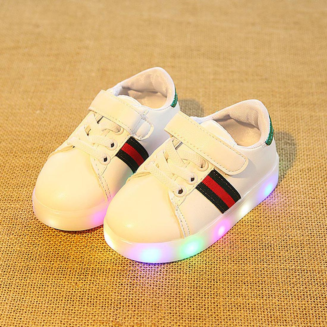 Daclay Baby Sneakers Toddler Shoes For Boy Girls Led Off White Shoes Brand Running Shoes With Pu Leather For Child