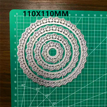 LACE FLOWER CIRCLE Metal Cutting Dies For Stamps Stencils for DIY Scrapbooking/photo album Decorative Embossing