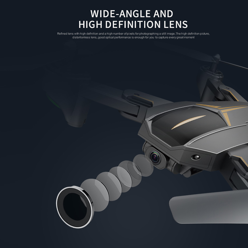 VISUO XS812 GPS RC Drone with 4K HD Camera 5G WIFI FPV Folding Drone Headless Mode GPS Follow Gesture Drone for Adult VS XS809S 4