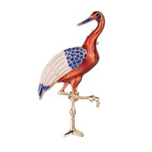 Gariton Flamingo Animal Brooch Pins Enamel Bird Brooches For Women Vintage Wedding Jewelry 2019 New Arrival