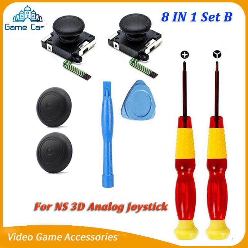 3D Analog Gamepad Switch Thumb Stick For Nintend NS Joy Con Joystic Sensor Module Repair Tool For JoyCon Replacement+Driver Tool