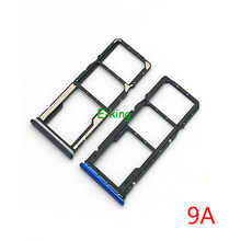 Adaptador do entalhe do cartão do suporte da bandeja do cartão sim para as peças de substituição de xiaomi redmi 9a