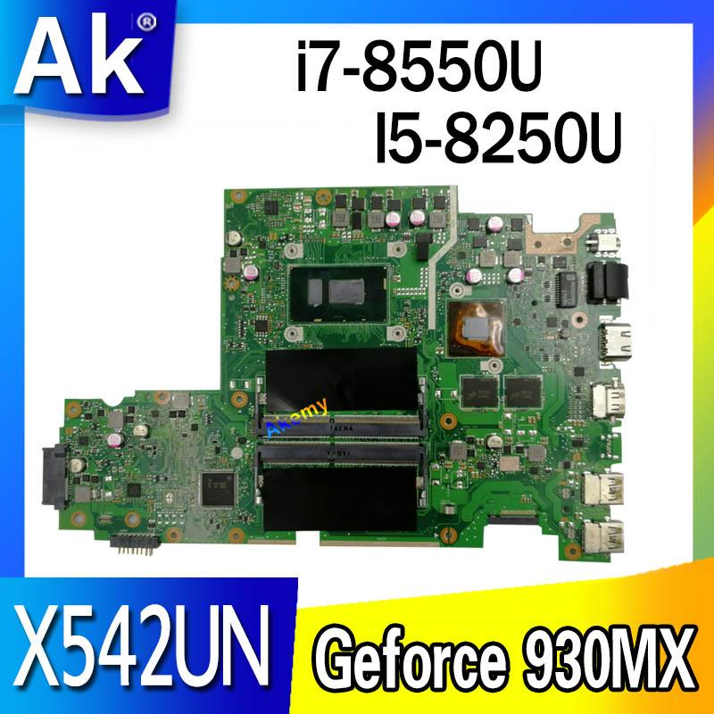 Laptop Motherboard For ASUS  X542U X542UR X542UQ X542UN X542URR  Mainboard  I5-8250U / I7-8550U  (V2G) Exchange!!!