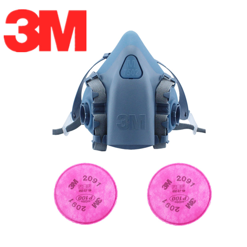 3m 7502 spray paint /dust mask respirator 3m 2097 p100 fliters