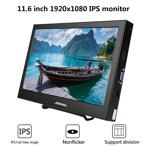 11.6 Polegada 1920x1080 ips lcd display portátil para ps3/ps4/xbox360 com interface vga/hdmi 10.1 Polegada computador monitor de jogos pc