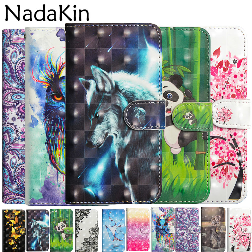 Book Case Luxury 3D Painted for <font><b>Xiaomi</b></font> <font><b>Redmi</b></font> 6 Pro <font><b>6A</b></font> S2 Y2 Note 5 Pro 5A Prime 4 4X Phone Cover Shell Bags Flip Wallet Leather image