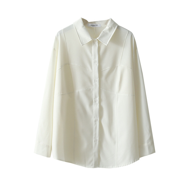 White Shirts Women Retro Oversized Tops Blouses Harajuku Long-Sleeve Chic Lapel Loose Shirt Women's Autumn Blouses Blusas Mujer 6
