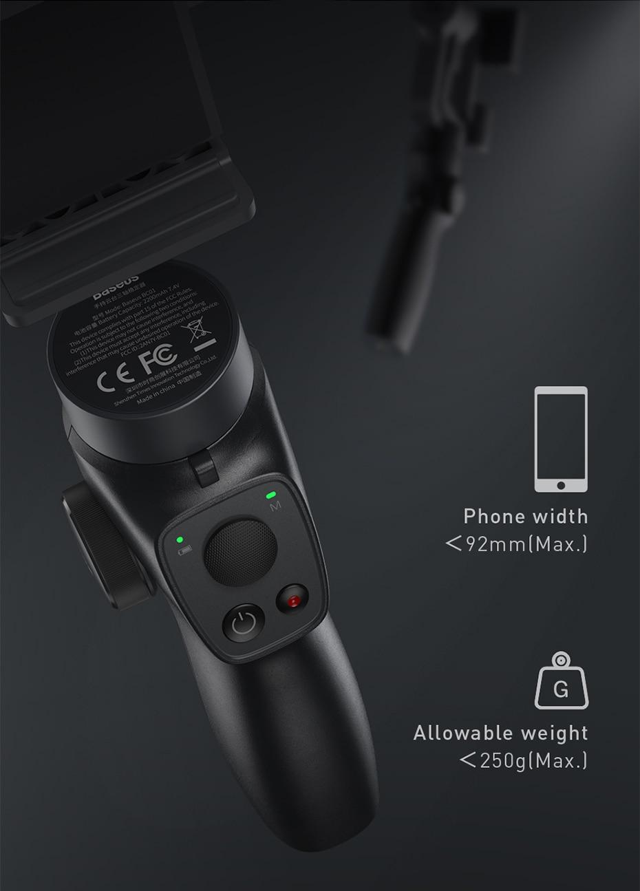 Baseus 3-axis handheld gimbal stabilizer 7
