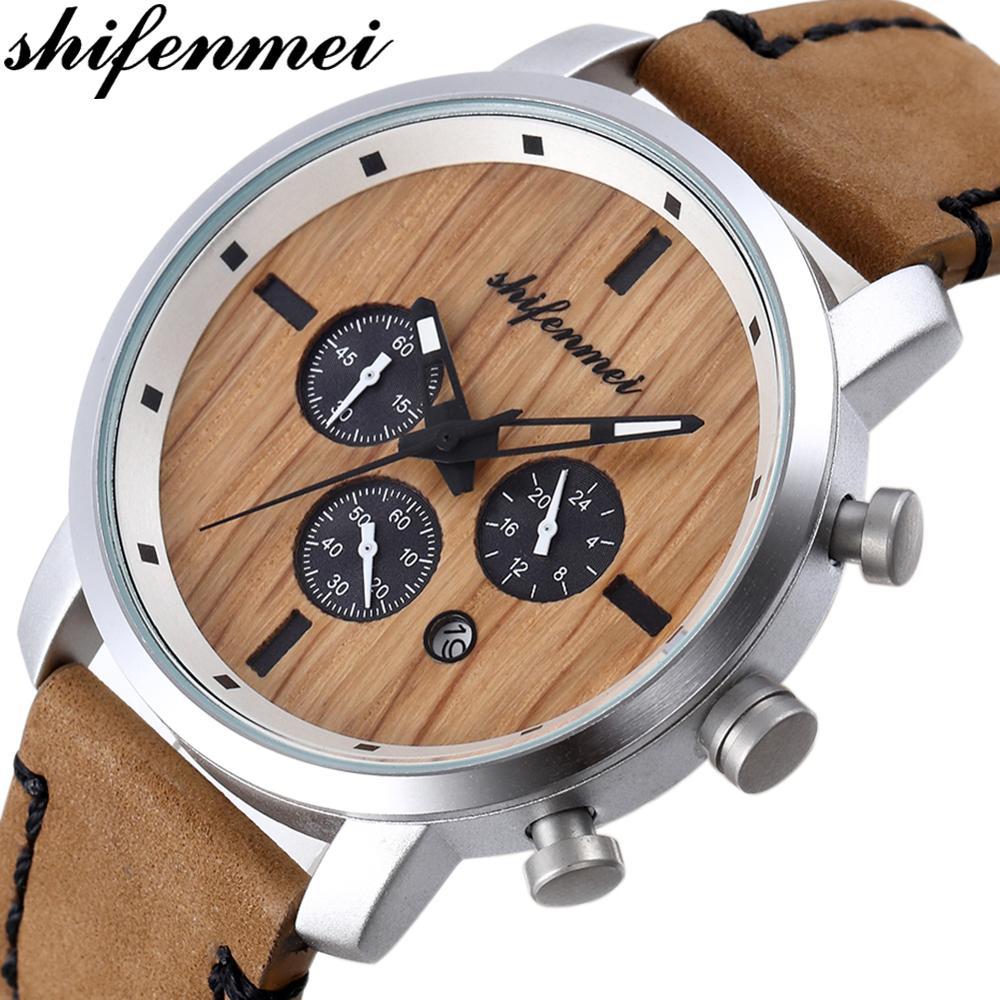 Shifenmei Watches Mens 2019 Quartz Watch Men Luxury Chronograph Watch Male Casual Clock Male Gifts For Men Relogio Masculino