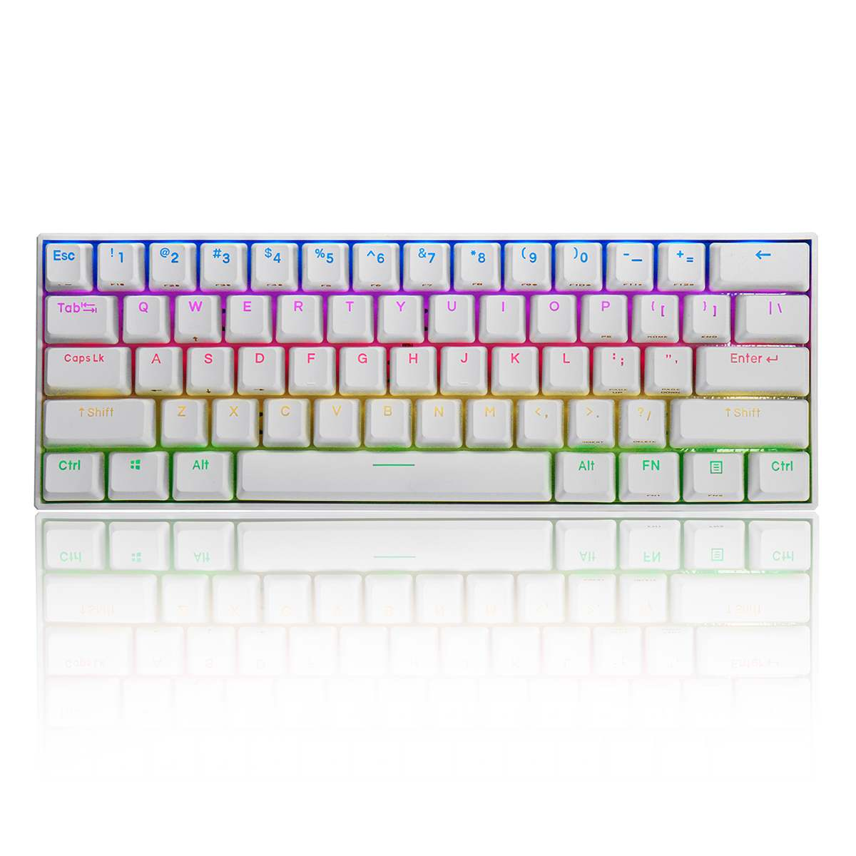 Brand NEW FEKER Mini Portable Wireless bluetooth 5.0 Type-C <font><b>60</b></font>% Mechanical <font><b>Keyboard</b></font> RGB PBT <font><b>Keycaps</b></font> Gaming <font><b>Keyboard</b></font> image