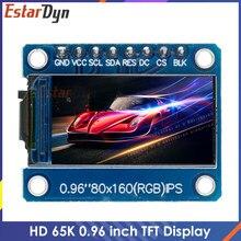 Hd 65k 0.96 polegada tft ips tela lcd unidade ic st7735s 3.3v 160x80 spi interface para arduio módulo de exibição lcd a cores completas