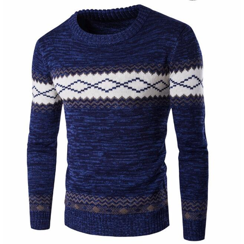 Zogaa Men's Fashion Sweater Autumn Winter Knitted Pullovers Sweaters Knitwear Homme Warm Sweaters Casual Patchwork O-Neck Tops