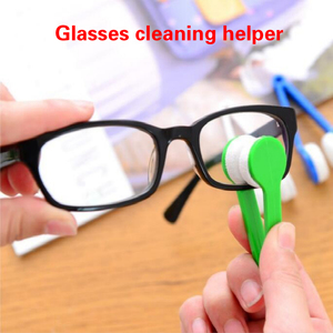 1PCS Portable Multifunctional Glasses Cleaning Rub Eyeglass Sunglasses Spectacles Microfiber Cleaner Brushes Wiping Tools Mini