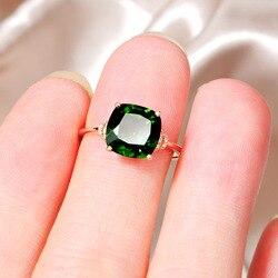 14 K or Rose grand-mère bague verte pour les femmes Anillos naturel émeraude pierre gemme topaze Bizuteria bijoux 14 K bague avec boîte