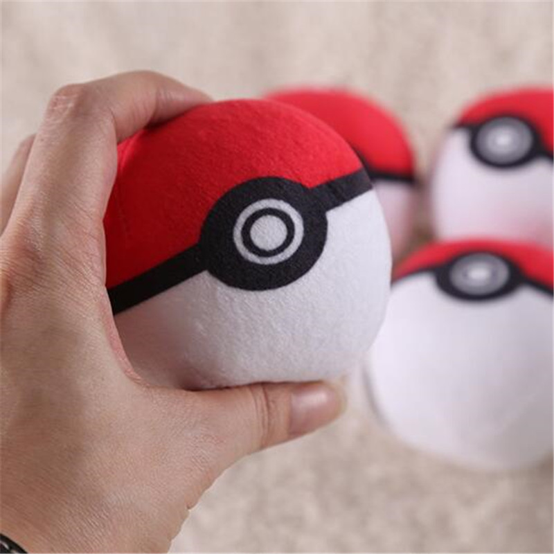 Japan Anime Game Pokemon Key Chain Poke Ball Key Ring Pendant Cosplay Badge Props 3D Plush Fancy Creative Gifts