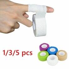 1/3/5 sztuk wodoodporny samoprzylepny bandaż terapia medyczna na rękę taśma mięśniowa stawy palców Wrap apteczka zwierzęta domowe są bandaż elastyczny