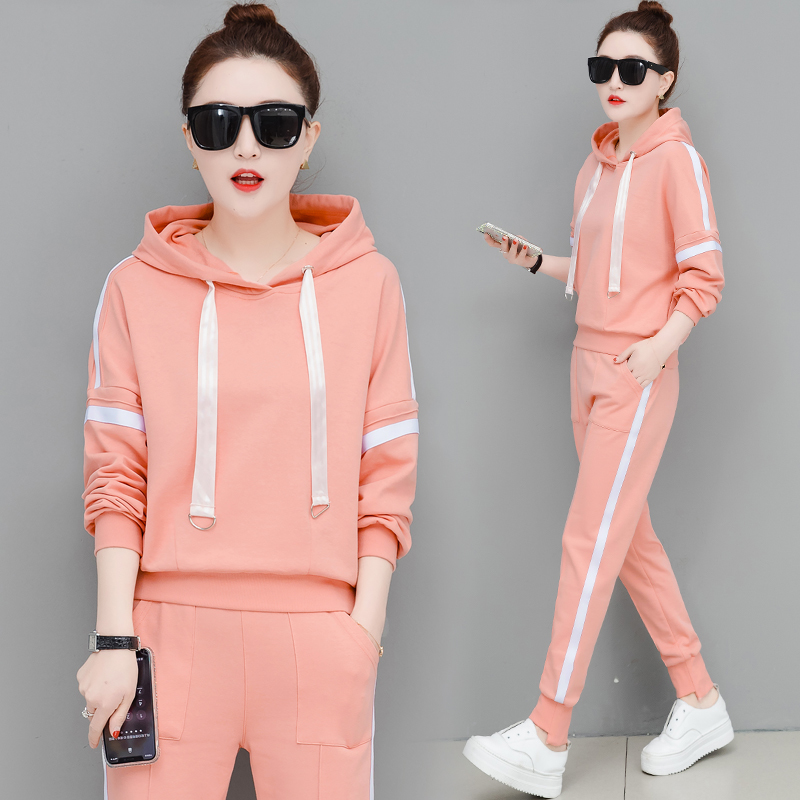 Tracksuit For Women Suits Outfits 2 Piece Set Striped Hoodies Pants Suit Plus Size Large Loose Matching Sportsuit  Clothing