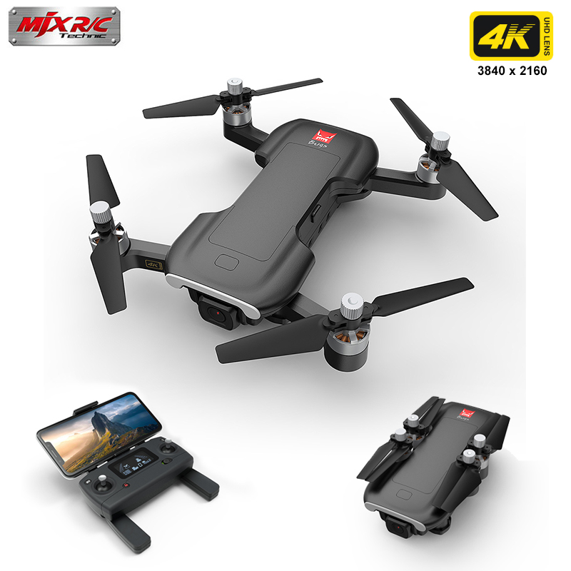 MJX Bugs 7 B7 GPS Drone RC Quadcopter With 4K 5G WiFi FPV Brushless Motor Helicopter Gesture Control Foldable Drone VS E520S